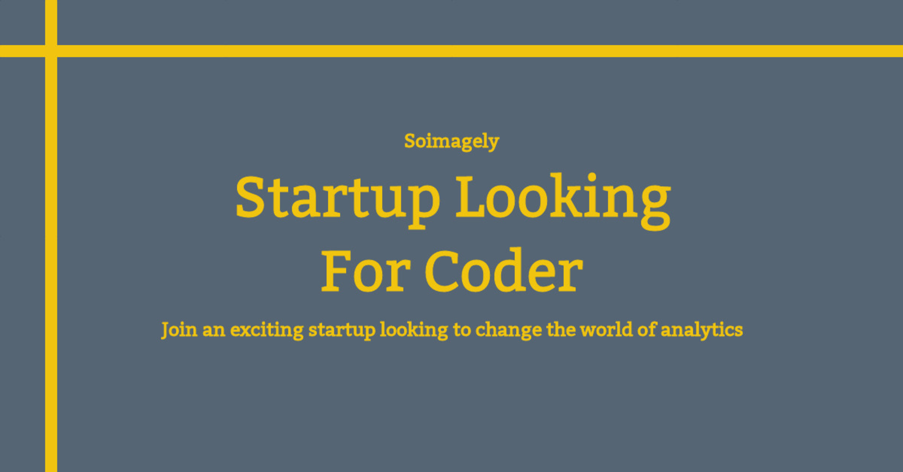 Startup looking for coder